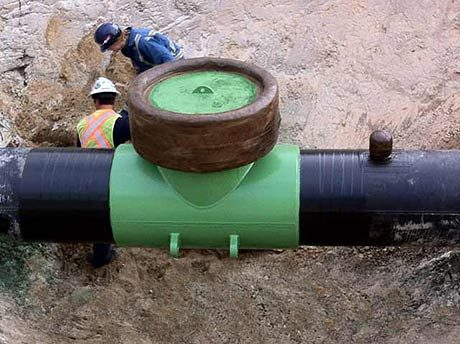 Underground pipeline fitting coating field work with Paragon Fusionclad PPC